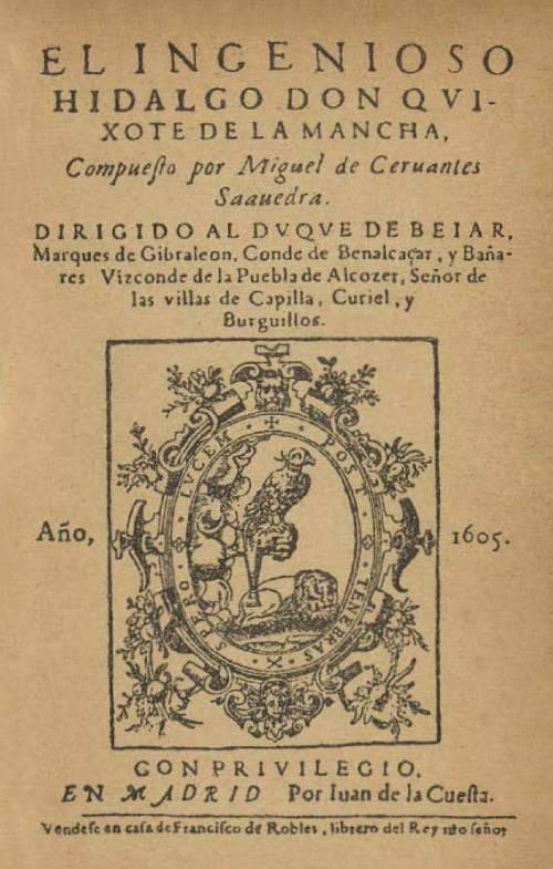 Don Quijote de la Mancha - Portada